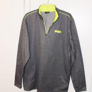 Batman Grey Lime Green 1/2 Zip Sweatshirt XL